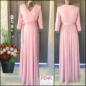 PINKBLUSH Maternity Wrap Maxi Dress